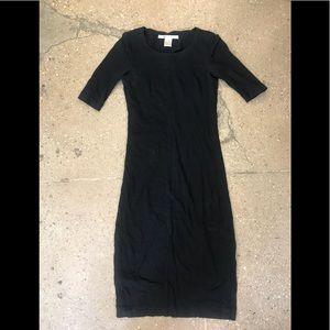 Black Cotton DVF Dress // Size P
